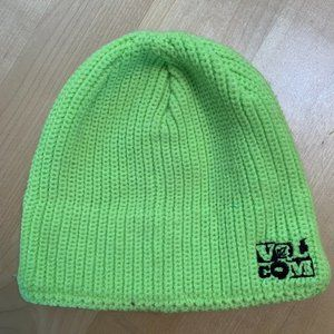 Volcom Neon Green Fleece-lined Beanie Hat